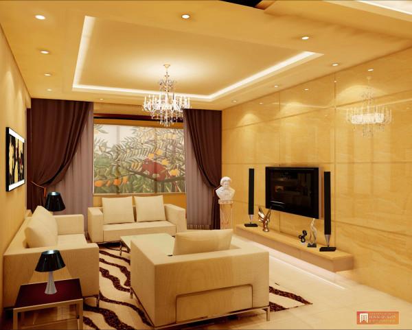 以简单有线条性的白色沙发打造休闲的客厅