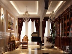 简约 欧式 别墅 白领 叠拼 80后 小资 高富帅 白富美 书房图片来自北京高度国际装饰设计在中海尚湖世家叠拼欧式别墅的分享