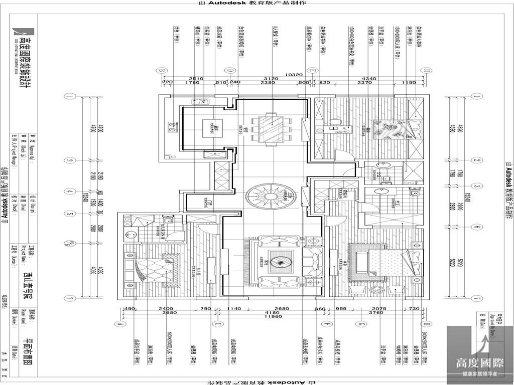 简约 中式 三居 公寓 80后 小资 白领 高富帅 白富美 户型图图片来自北京高度国际装饰设计在西山壹号院简约中式案例的分享