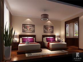 简约 中式 二居 白领 80后 小资 高富帅 白富美 高度 卧室图片来自北京高度国际装饰设计在筑华年·新中式公寓的分享