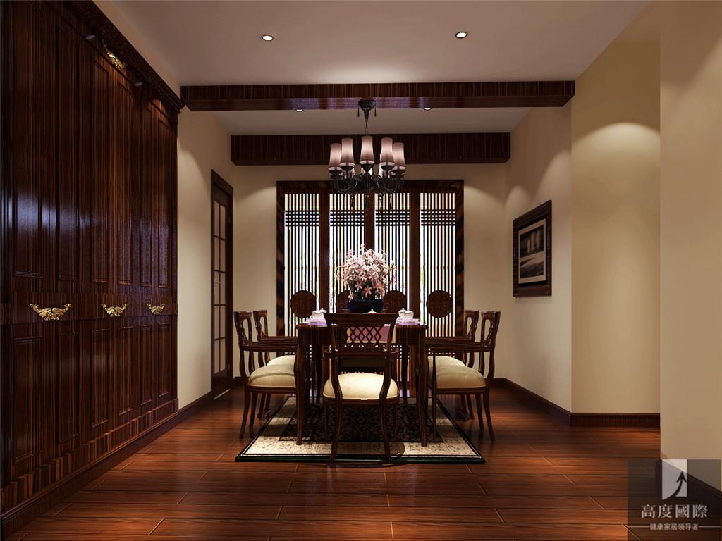 简约 中式 三居 公寓 80后 小资 白领 高富帅 白富美 餐厅图片来自北京高度国际装饰设计在西山壹号院简约中式案例的分享