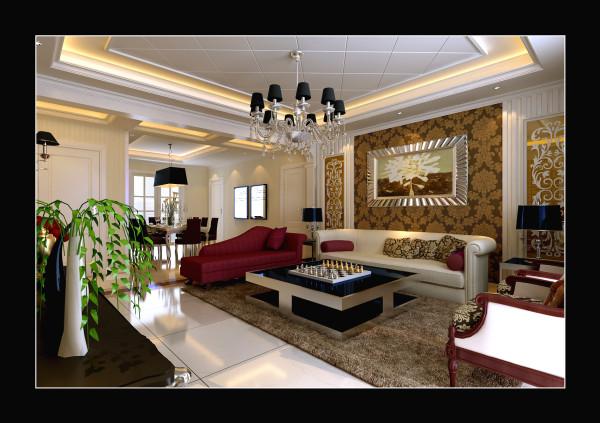 客厅整体上感觉大气 沙发背景墙显得很提档次