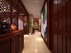 中式 复古 高雅 四居 古典美 温馨 中式效果图 玄关图片来自西安城市人家装饰王凯在160㎡儒雅中式风格舒缓优雅意境的分享