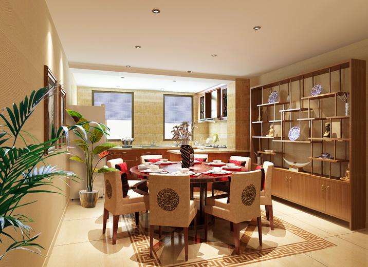 天津实创 首创国际城 三居 现代中式 装修效果图 餐厅图片来自天津实创装修_装饰在首创国际城 157平现代简约中式的分享