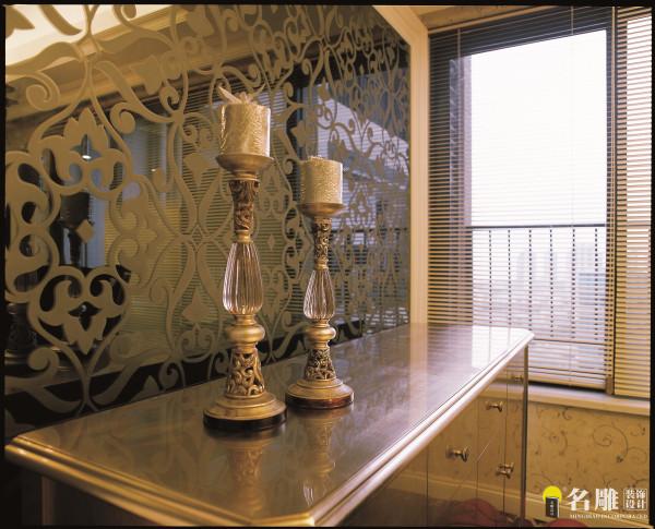 名雕装饰设计-珑园二居室-简欧风格-客厅背景