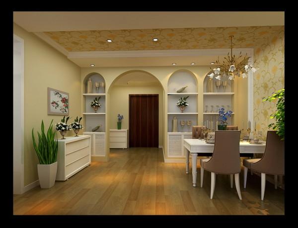 欧式简约时尚餐厅设计