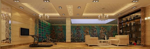 名雕丹迪设计-葡萄庄园别墅-欧式风格游泳池