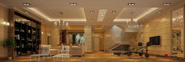 名雕丹迪设计-葡萄庄园别墅-欧式风格地下室:大气、豪华、舒适。整个空间通透、光线充足。