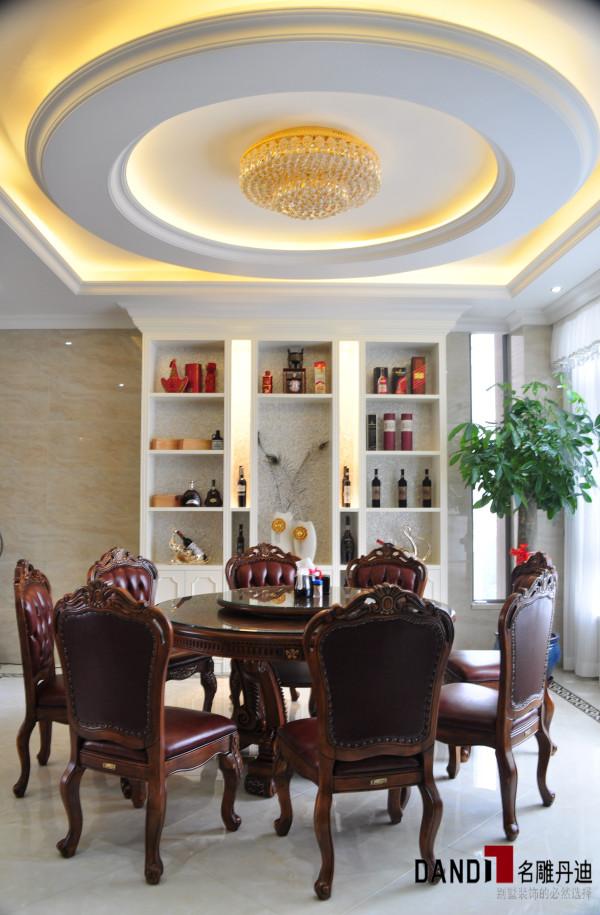 名雕丹迪设计-香蜜湖1号别墅-简欧风格中餐厅