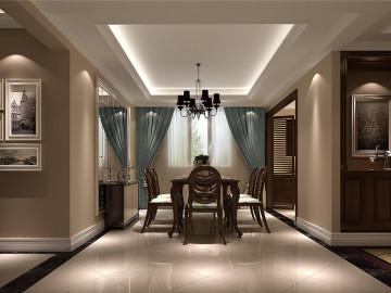 润泽公馆168平米中式装饰设计