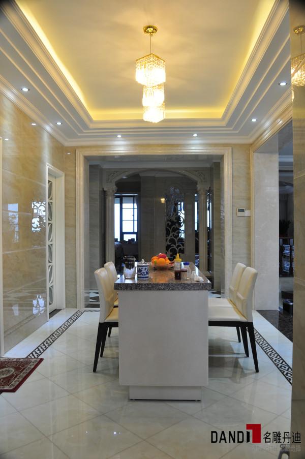 名雕丹迪设计-香蜜湖1号别墅-简欧风格西餐厅