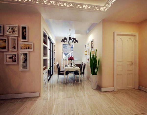 郑州实创装饰-大河龙城90平两居室-餐厅效果图