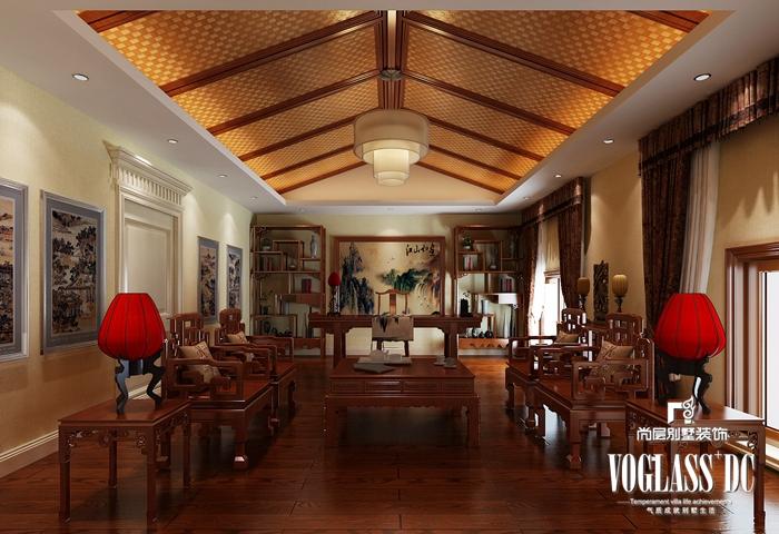 欧式 别墅 白领 客厅 餐厅 卧室 卫生间 书房图片来自北京别墅装修案例在大气自然的简欧风格的分享