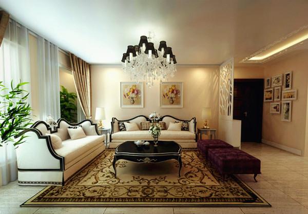 郑州实创装饰-大河龙城90平两居室-沙发背景墙