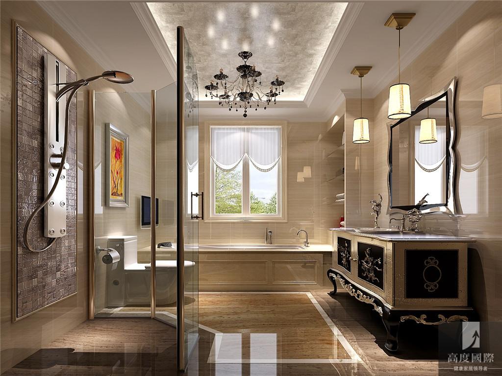 高度国际 欧式 叠拼 别墅 白领 80后 小资 高富帅 白富美 卫生间图片来自北京高度国际装饰设计在爱她,就给她一个家的分享