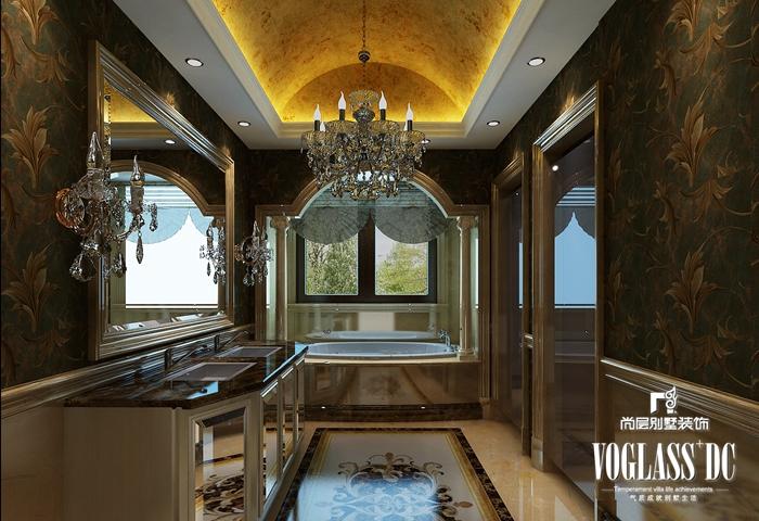 欧式 别墅 白领 客厅 餐厅 卧室 卫生间 卫生间图片来自北京别墅装修案例在大气自然的简欧风格的分享