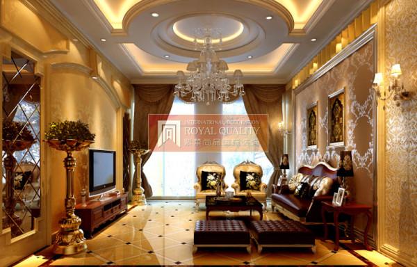 客厅以黄色为基色调,家具具有欧式风格的弯曲线条,明细的线条和优雅,得体有度的装饰让家居看起来大气,色彩丰富饱满,融合了欧美的情调与浪漫