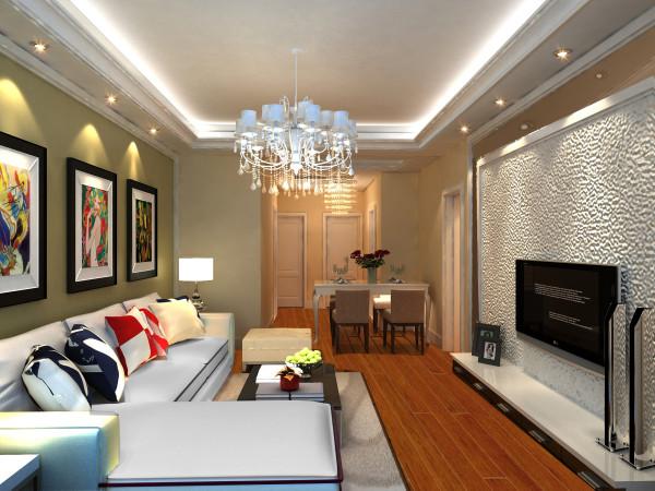 客厅作为待客区域,一般中从简单到复杂,从颜色到质感都采用性价比最高的,在住房的装修中不能太过于艺术化,也不需要太多华而不实的装饰,在整体的设计上运用了茶镜和深色乳胶漆作为搭配,跳跃感十足,层次分明。