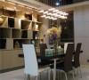 奥林华府时尚温馨三居室-现代风格餐厅:设计和色彩运用上体现简洁和谐、温馨。