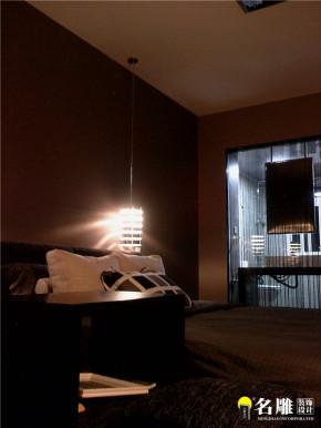 现代 二居 白领 80后 黑白世界 文艺青年 卧室图片来自名雕装饰设计在现代风格135平二居80后黑白世界的分享