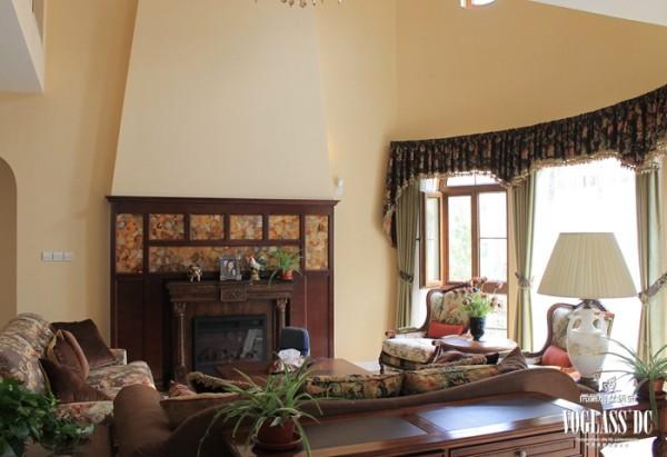 尚层装饰别墅设计之天恒别墅山美式田园风格,客厅设计