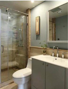 混搭 美式 优雅 舒适 简约 卫生间图片来自华埔装饰公司--江旭在舒适优雅混搭的家的分享
