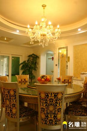 欧式 三居 高富帅 公主房 时尚 名雕装饰 餐厅图片来自名雕装饰设计在欧式风情-淘金山140平奢华装修的分享