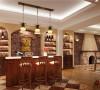 美式风格拱形酒柜