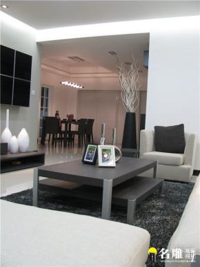 现代 二居 白领 80后 黑白世界 文艺青年 客厅图片来自名雕装饰设计在现代风格135平二居80后黑白世界的分享