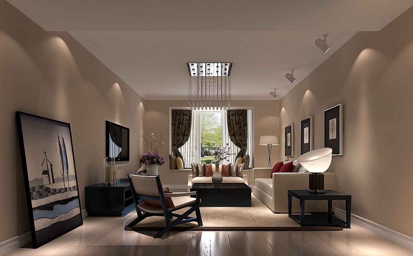 客厅 客厅图片来自专业别墅设计工作室在润泽公馆现代简约风格的分享