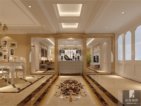 整体的感觉少了富丽堂的装饰和浓烈的色彩,呈现的测试一片清新,典雅和大气并存的轻松空间。