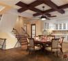 餐厅设计优雅的井字形吊顶