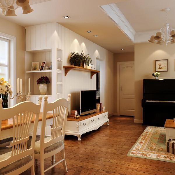 餐厅:独立餐厅和酒架设计,小户型也需要独立的空间享受。