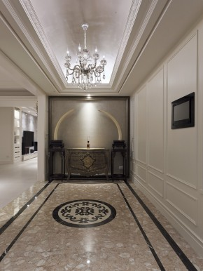 艺术 欧式 4居 白富美 白领 美式 玄关图片来自幸福空间在240m²金漆勾勒 传世艺术宅邸的分享