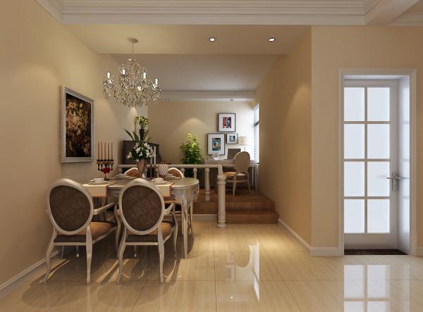餐厅比较简单,整体造型比较少,是一个轻装修重装饰的业主。