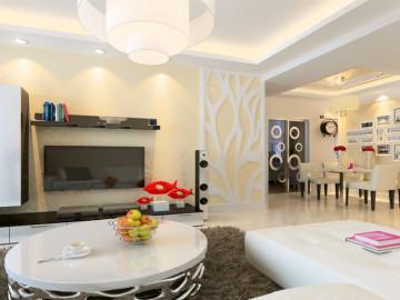 6万打造90平暖色系温馨现代家装