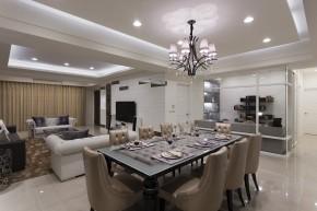 四居 新古典 欧式 白领 白富美 餐厅图片来自幸福空间在215m²毛胚屋 画出完美格局动线的分享