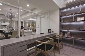 四居 新古典 欧式 白领 白富美 书房图片来自幸福空间在215m²毛胚屋 画出完美格局动线的分享