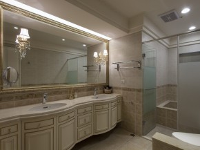 艺术 欧式 4居 白富美 白领 美式 卫生间图片来自幸福空间在240m²金漆勾勒 传世艺术宅邸的分享