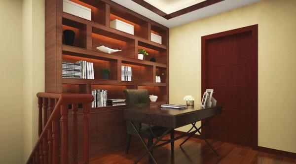 开放式书房:空间的合理运用在本方案里得到充分的展现,上二楼的平台用被合理利用,变成开放式书房。得到意思静谧的同时,也能得到充足的光线和宽敞的空间。