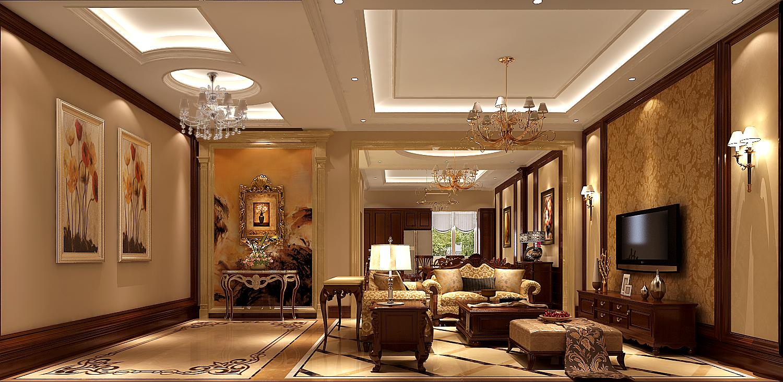 欧式 别墅 客厅图片来自专业别墅设计工作室在永定河孔雀城简欧风格别墅案例的分享