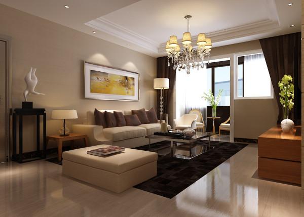 客厅的沙发背景墙选择了油画,让整个房间的品位得到了点缀。