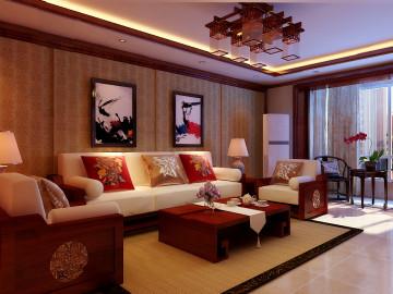 北坞嘉园125平米中式风格三居室