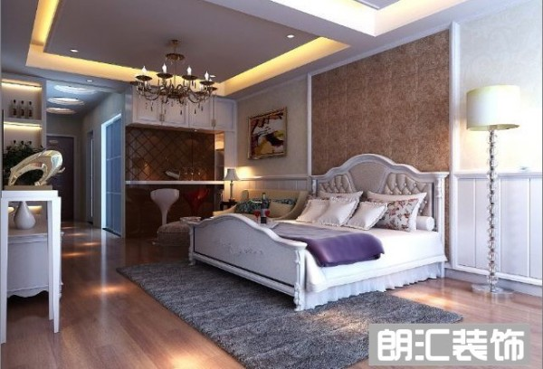 【西安朗汇装饰】北欧极简一居室卧室效果图赏析