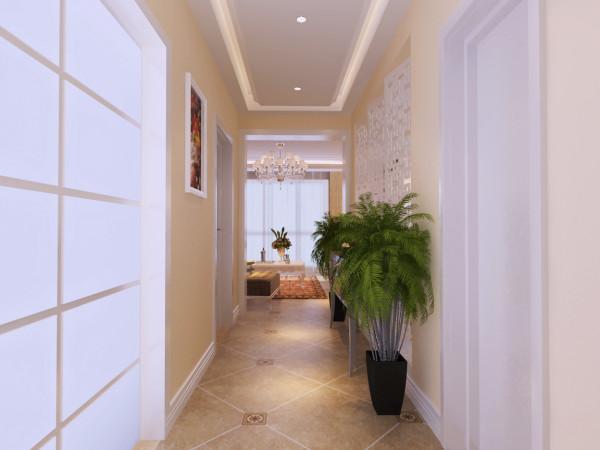 门厅:门厅玄关做镂空隔断处理,在强调分区的基础上增加神秘典雅的气息。