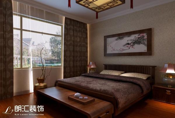 【西安朗汇装饰】三居室新中式风格卧室效果图赏析