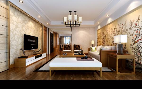 绿城翡翠湖玫瑰园190㎡现代简约客厅效果图
