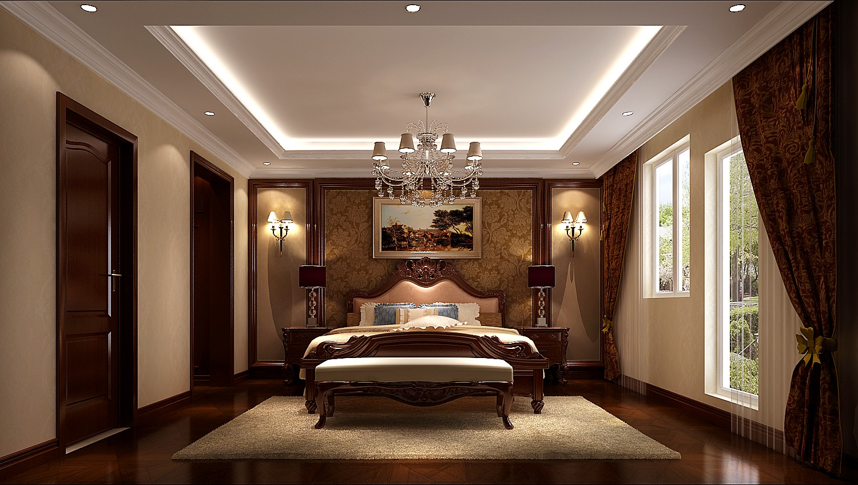 欧式 别墅 卧室图片来自专业别墅设计工作室在永定河孔雀城简欧风格别墅案例的分享