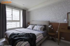 简约 北欧 二居 舒适 温馨 卧室图片来自幸福空间在76m² 实木玩味北欧空间的分享