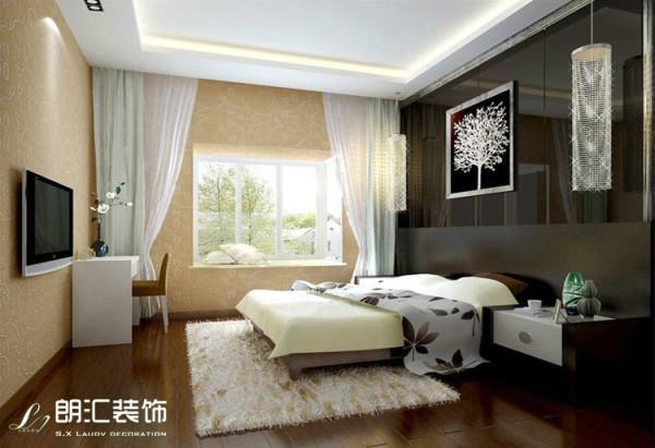 【陕西朗汇装饰】现代简约风格-卧室效果图赏析